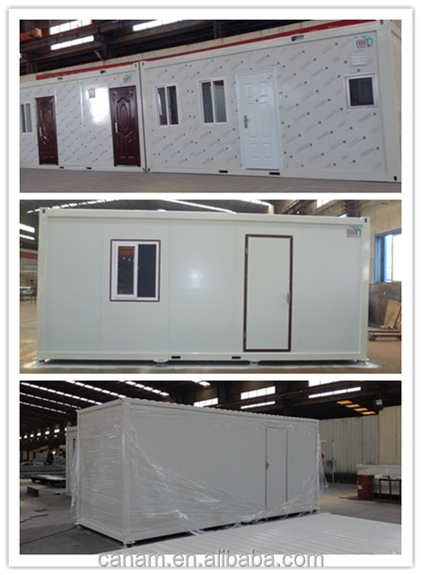 Modern prefabricated container house with EPS sandwich panels