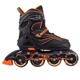 High quality 2018 new model PU 4 wheels light-up skating roller inline skates shoes for kids adults