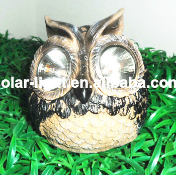 Exceptionnel Resin Solar Owl Animal Shaped Solar Garden Lights Solar Lights Animal Resin  Animation Writing Laser Light