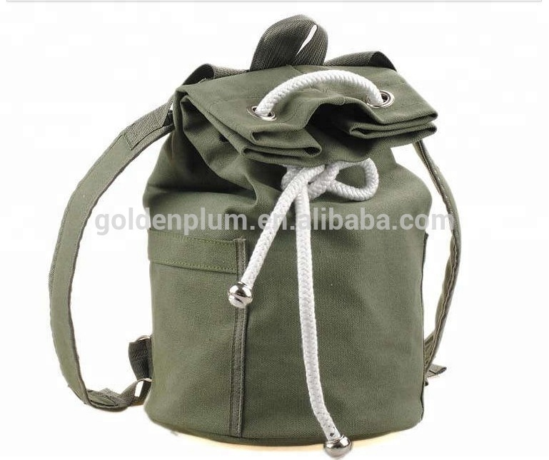 Fitness casual basketball training drawstring backpack men's bundle pocket female bucket simple Cotton Gym football bag