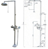 304 SS combination emergency lab facility shower & eye washer