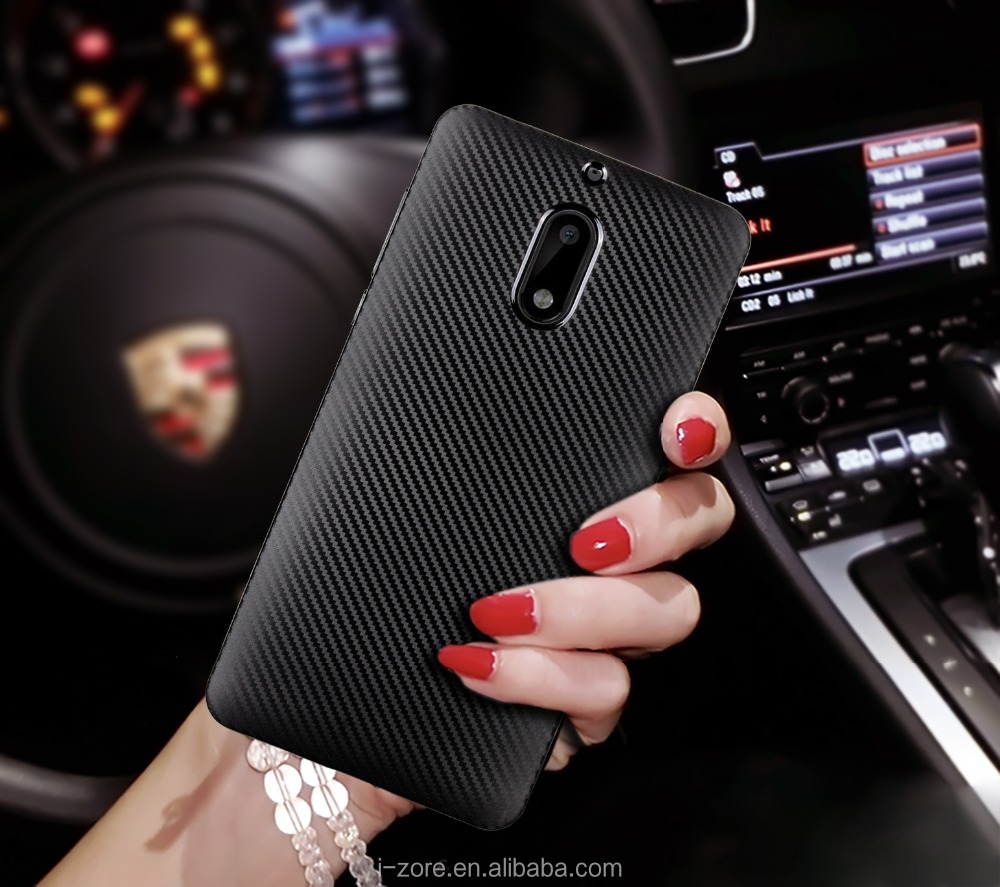 New Arrivals 2017 TPU Carbon Fiber Phone Cover Case for Nokia 6