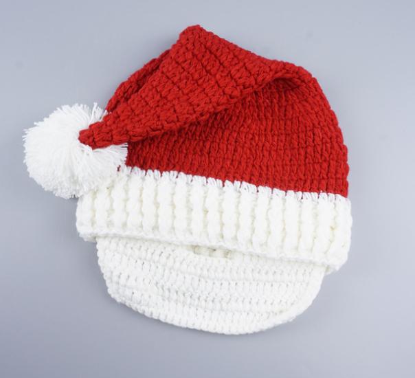 Crochet Desmontable Beanie La Barba Del Sombrero Mano De Punto Barba ...