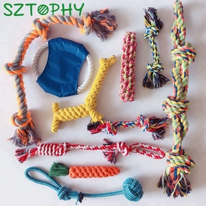 Dog Toys 10 Pack Gift Set, Ball Rope and Chew Toys for Medium to Small Doggie