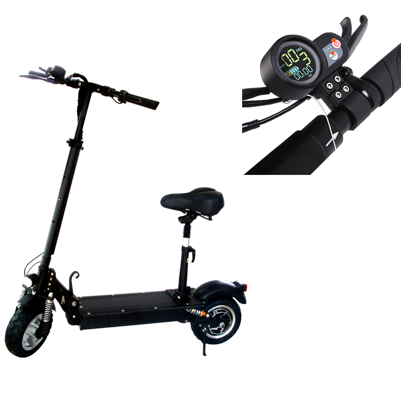 2018 new 48v 1200w 11 inch electric scooter with seat for adults, electric kick scooter