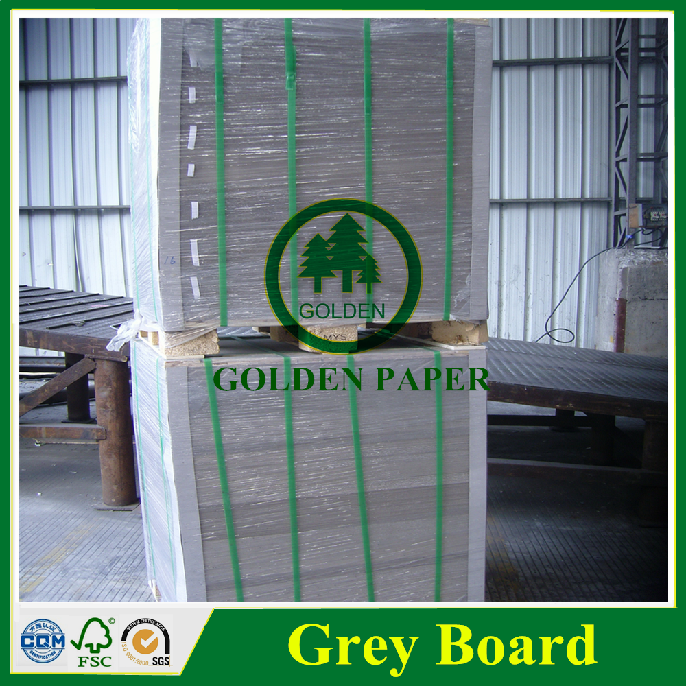 mixed pulp recycled pulp grey chip board double sides grey sheet