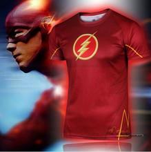 Kualitas tinggi 2016 DC Gookin Yee Flash Superhero t shirt, Pria kostum, Jersey 3d lengan pendek Sport Camisetas cepat kering