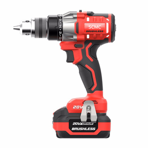 20V Cordless Brushless Mini Electric Drill/Driver Torque 100N.m Screwdriver Power Tools with Li-Ion Lithium Batteries