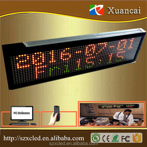 P7.62-16x64RG(Y)Multicolor 1-2lines Data Time Text Graphic indoormake led message display factory