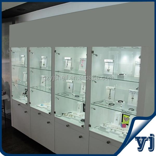 Superb Wood Glass Living Room Showcase Design/MDF Design Wood Glass Showcase For  Jewelry Exhibition And