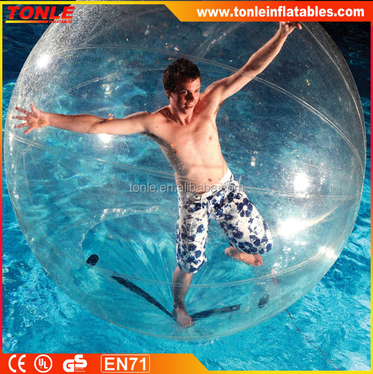 Transparent Inflatable Bubble Ball for Show, Walking on the Water Air Balloon, Sealed Clear Water Running Ball for Sale