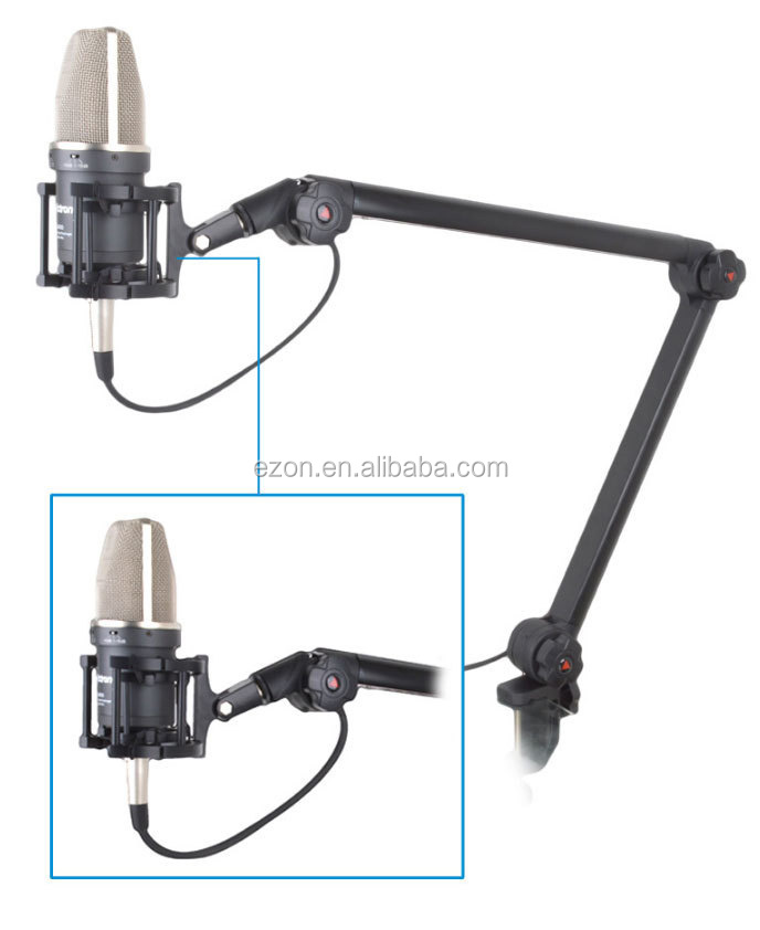 Flexibele Verstelbare Microfoon Stand, Professionele omroep microfoon stand, Suspension Boom Scissor Arm Mic Stand