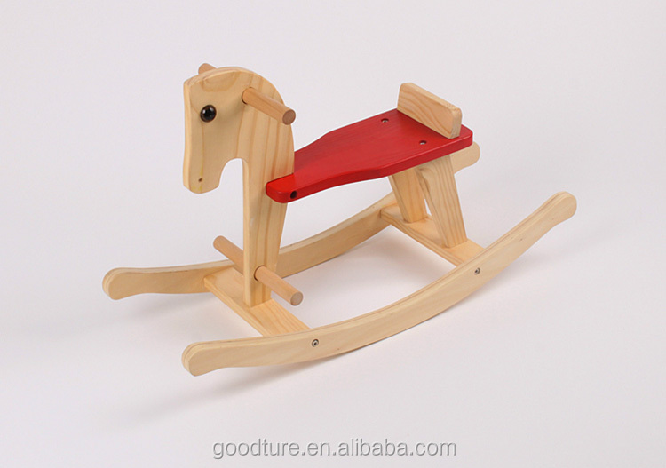 Customized Brand Accepted Classic Wooden Rocking Horse