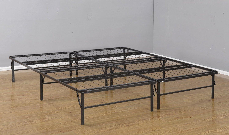 Kings Brand King Size Metal Bi-Fold Folding Platform Bed Frame Base Mattress Foundation