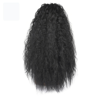"Lida synthetic new bohemian kinky curly 20-24"" size Hairpieces easy to wear extensions ponytail"