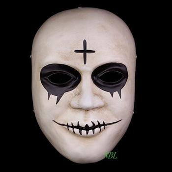Horror Payaso Cruz Resina Mascaras Cara Completa De La Mascarada De - Mascaras-de-halloween-de-terror