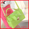 fashion green silicone bag for women Transparent lady's hand bag