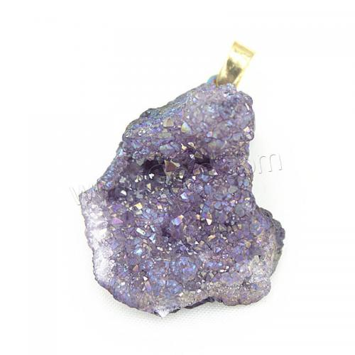 New Ice quartz natural crystal agate onyx pendants brass druzy drusy druse geode druza druzi style mixed colors 1254080