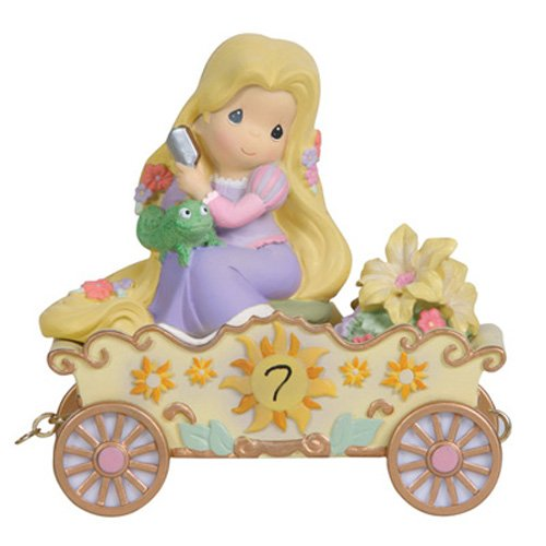 "Precious Moments, Disney Showcase Collection, Birthday Gifts, ""I'm In Heaven To Be Seven!"", Disney Birthday Parade, Age 7, Resin Figurine, #114424"