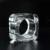 Square Clear Crystal Napkin Rings Napkin Holder For Wedding Hotel Home Accessories