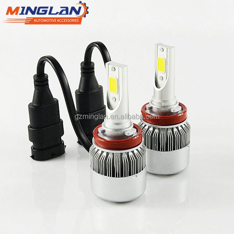 2017 Minglan Newest Upgrade AUTO parts factory price 3800lm 36W H11 E6 C6 LED HEADLIGHT H11