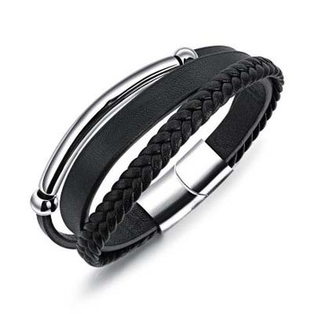 Latest Design Mens Leather Bracelet Energy Charm Bracelet a435d7a242