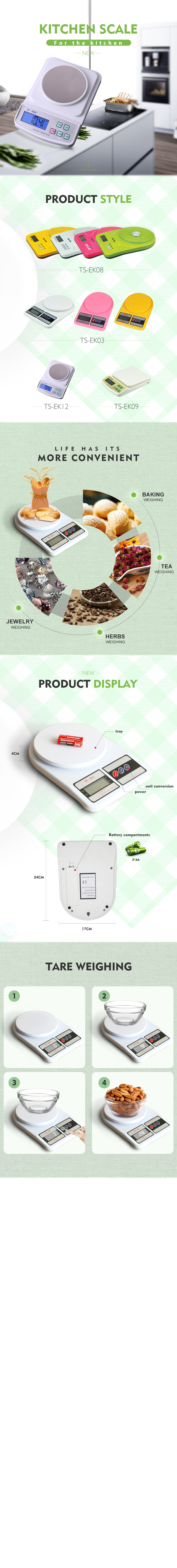 10 kg 0.1 g digital weighing scale chinese electronic kitchen scale with ABS Plastic material