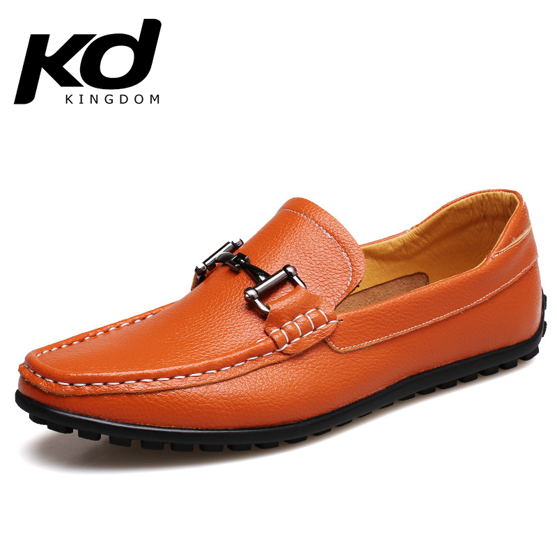 Get Quotations · New 2015 Men Shoes Men Loafers Leather Mens Fashion Casual  Shoes Flats Brown slip on chaussure 0024735493c7