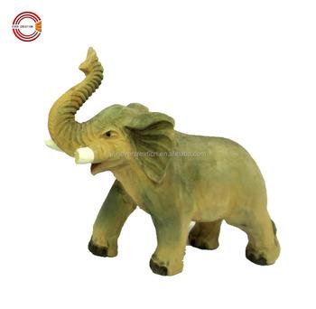 Best Selling Wood Handicrafts Wood Elephants For Home Decoration