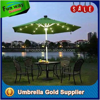 2016 Latest Solar Garden Patio Umbrella With LED Lights