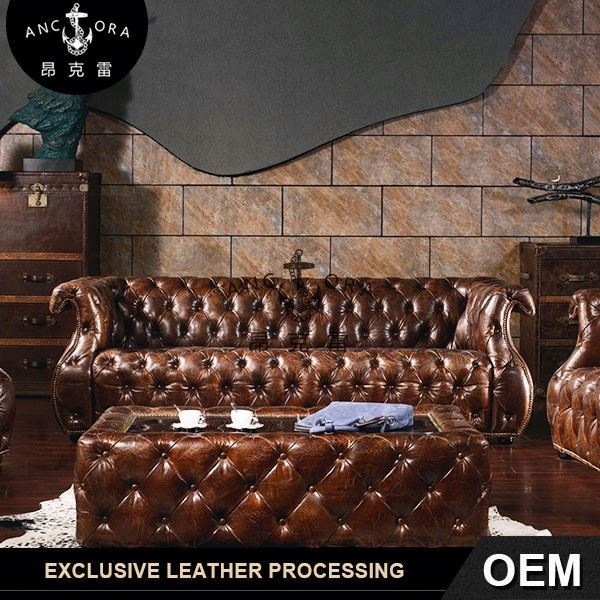 arabic living room furniture luxury leather sofa A111