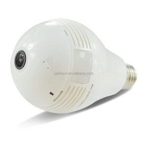 Voice Control Smart Camera Led Bulb Light . 360 Degree Fisheye Panoramic Wireless Camera For Home Security System