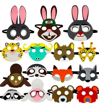2019 China Supplier New design wholesale cheap good looking popular kids party felt mask