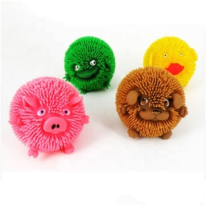 Farm Puffer Ball Toy, Flashing Toys, Capsule Toys