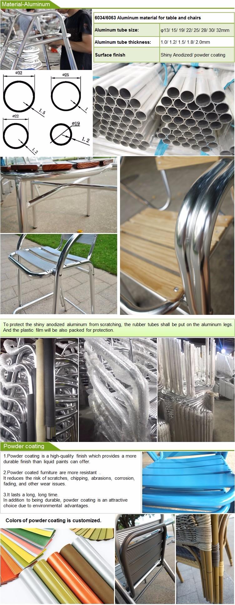 Mehr Farbe Aluminium Terrasse Tisch Und Stühlen Garten Im Freien ...