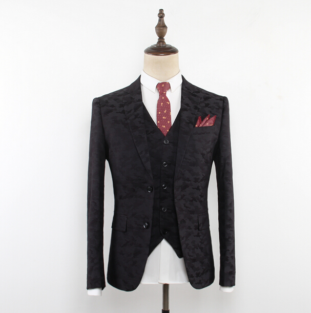 anti-shrink high quality 100% wool korean style suits for men