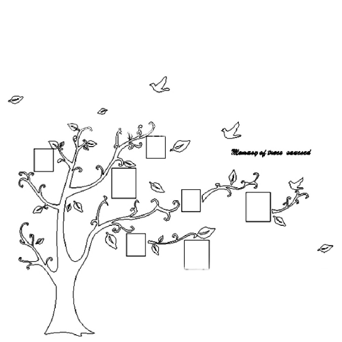 New Hot  170*210cm Photo Tree Removable Vinyl Quote Wall Sticker Decal Mural Simple Home Decor