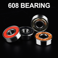 China factory Long lifespan High speed Deep Groove ball bearing 608rs 608 bearing for skate bearing skate shoes bearing