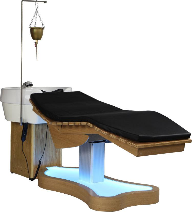 Luxury hair salon furniture shampoo table buy hair spa for Beauty salon bed