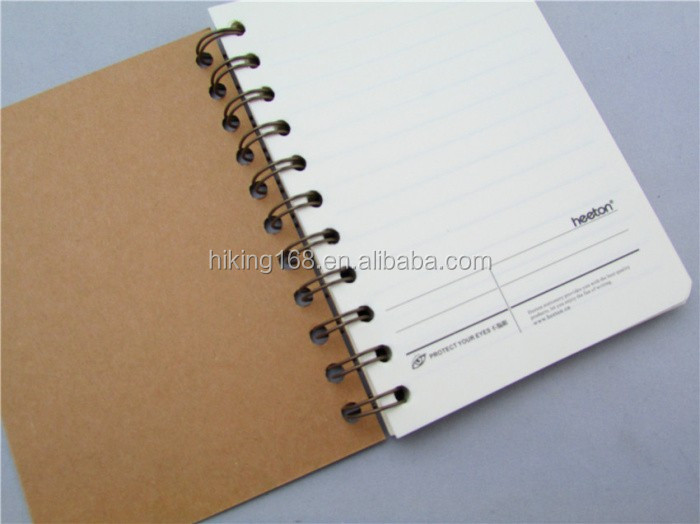 Office Free Sample Paper Cardboard Cover Double Spiral Notebook A