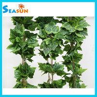 Garden Decoration Artificial Ivy Garland, Fake Grape Leaves Garland