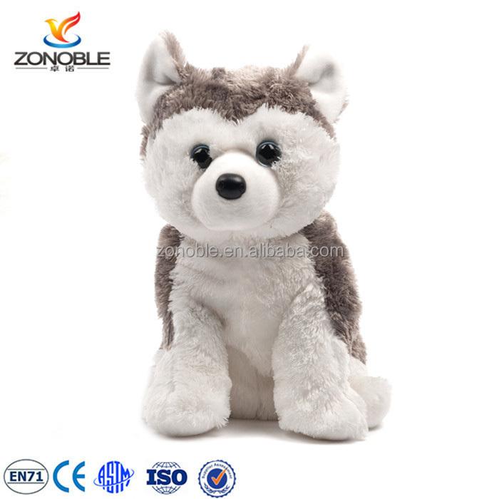 האופנה האופנתית מתרפק בפלאש בעלי החיים צעצוע גור האסקי סיבירי מותאם אישית ממולא WZ-45