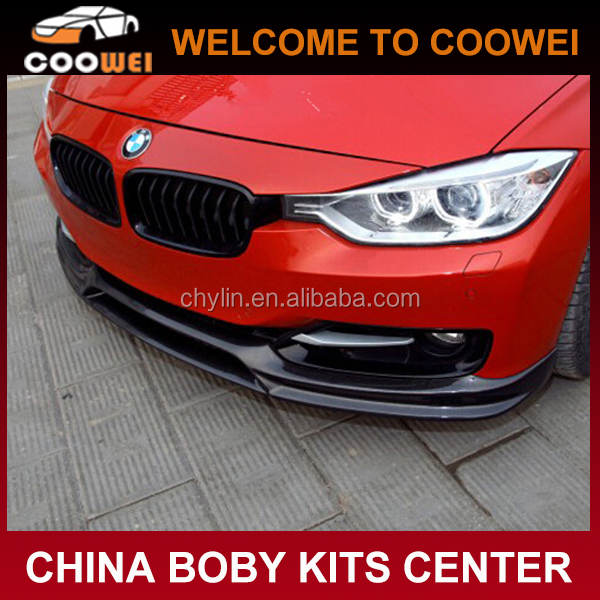 3D Style NEW 3 Series M TECH bumper F30 Carbon Fiber Auto Front Lip For BMW F30 12-14