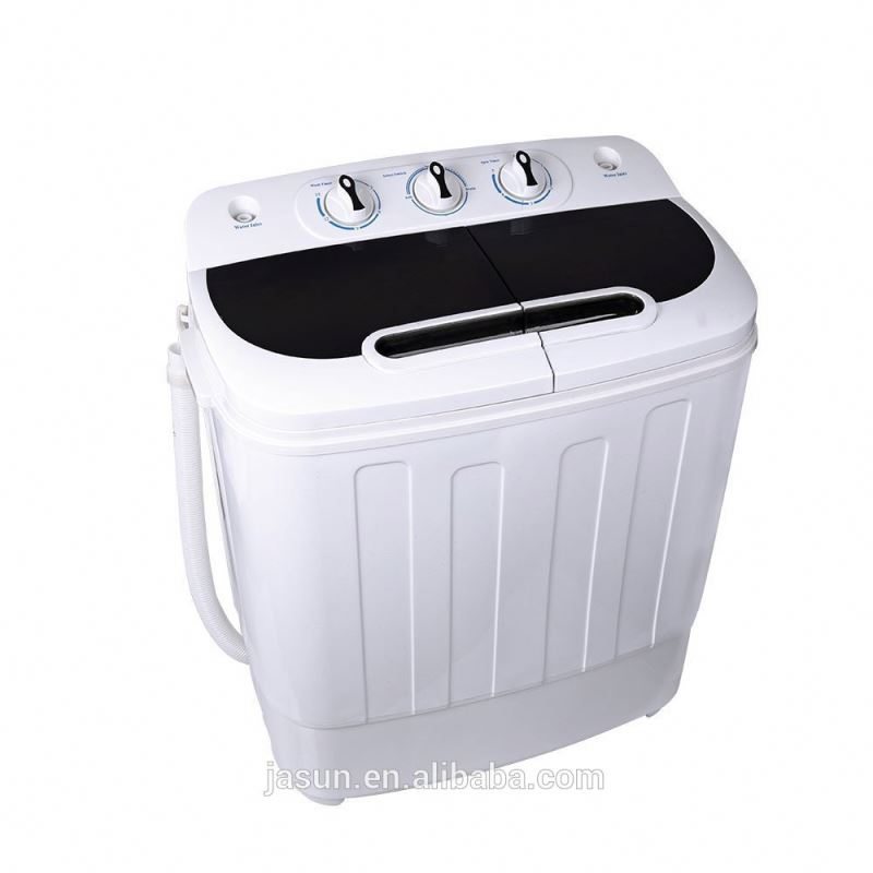 Homeleader W02-014 <strong>Washing</strong> <strong>Machine</strong>, Portable and Compact Laundry Washer with 7.93lbs Capacity, Twin Tub, Black and White