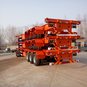 3 Axles Truck Semi Trailer Used Container Chassis For Sale