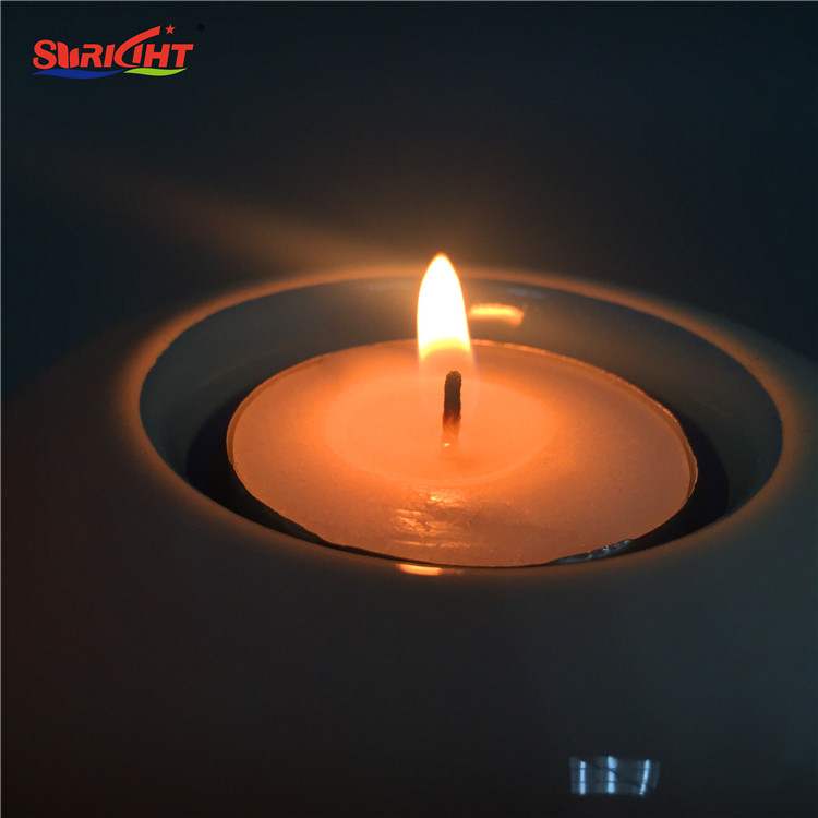 Bulk China Factory Tealight Candle Holder with Smooth White Surface