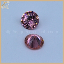 Hot selling cz zircon with 1.5mm pink color round cubic zirconia gemstone