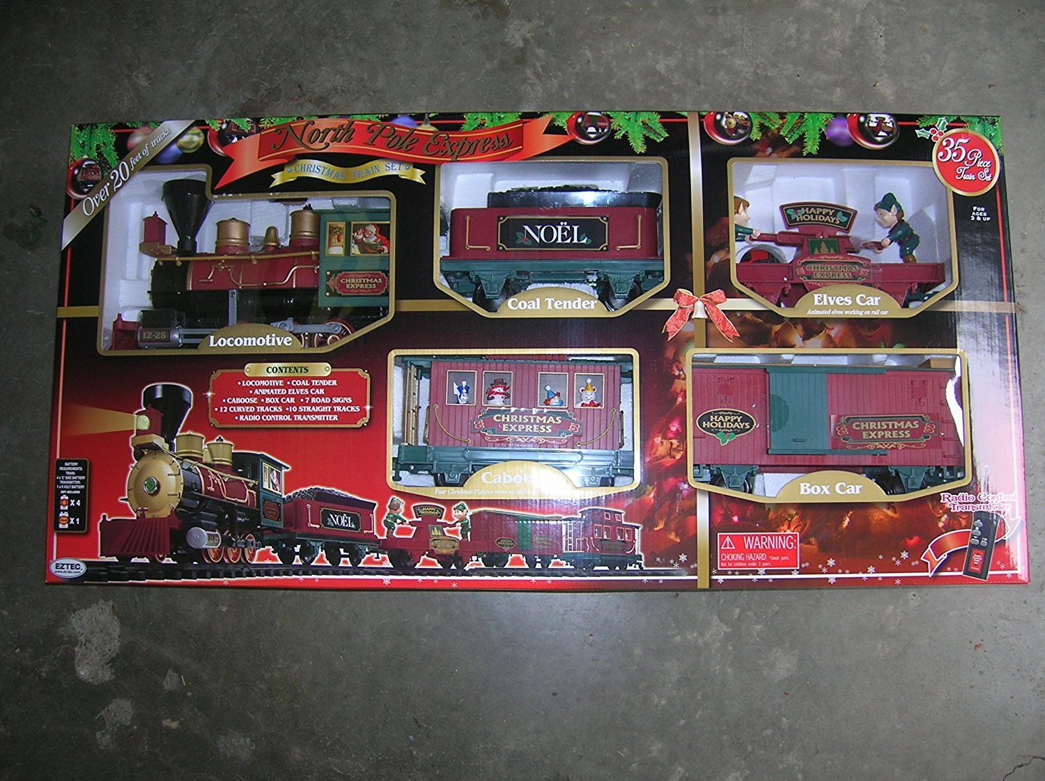 Buy North Pole Express Christmas Train Set 35 Pieces - Remote ...