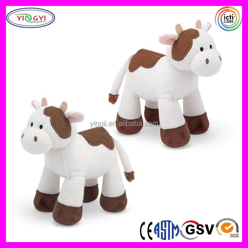 A478 Alta Calidad Suave Vaca Animal Punto Envío Vaca De Peluche ...