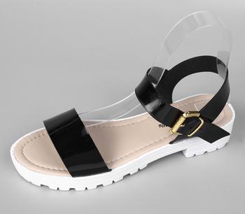 Sandalen Onderdelen 2019 Zomer Nieuwe Ontwerp Zwart Meisje Sandalen Nieuwste Dames Zomer Mode Teen Thong Sandalen Buy Dames Pu Sandalen,Italiaanse